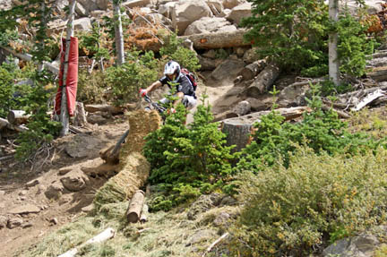 Downhill Mountain Bike Crash in Brian Head, Utah