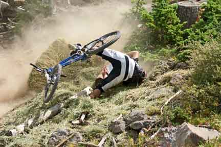 Downhill Mountain Bike Crash in Brian Head, UT