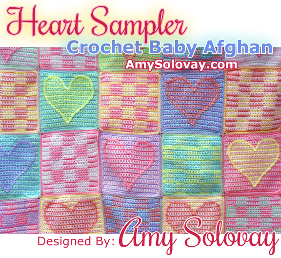 Crochet Baby Afghan With Heart Pattern