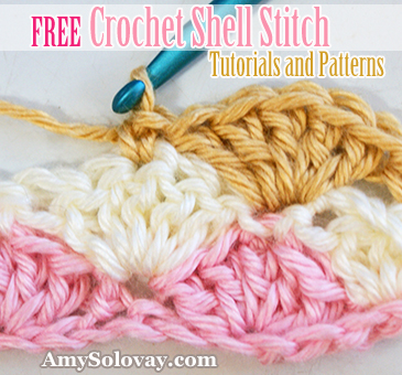 Free Crochet Shell Stitch Tutorials and Patterns by Amy Solovay