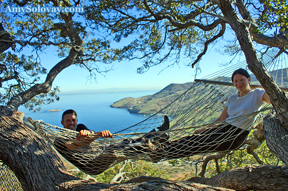 I'm not sure what this hike's official name is -- but, since there are hammocks at the top, we've nicknamed it the hammock hike.
