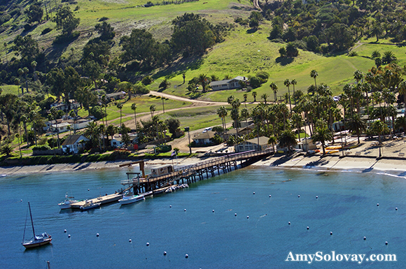 Isthmus Cove and the Public Dinghy Dock in Banning Harbor - Two Harbors, California