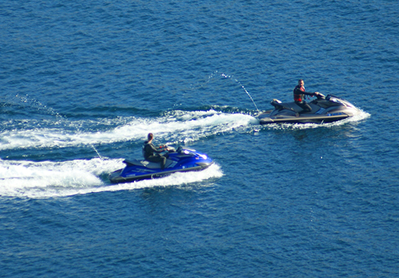 Jet skiing is one of the many possibilities for things to do in Two Harbors, California.