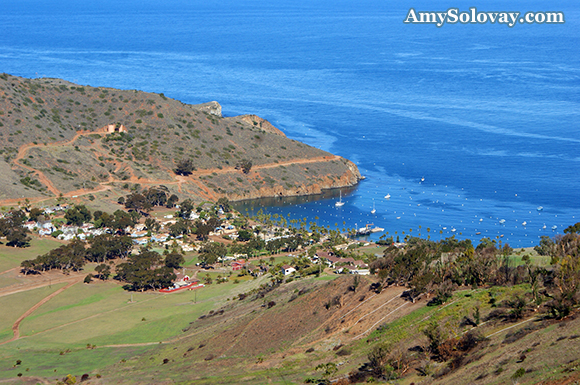 The Village of Two Harbors Overlooks Banning Harbor on the North Side of Catalina Island.
