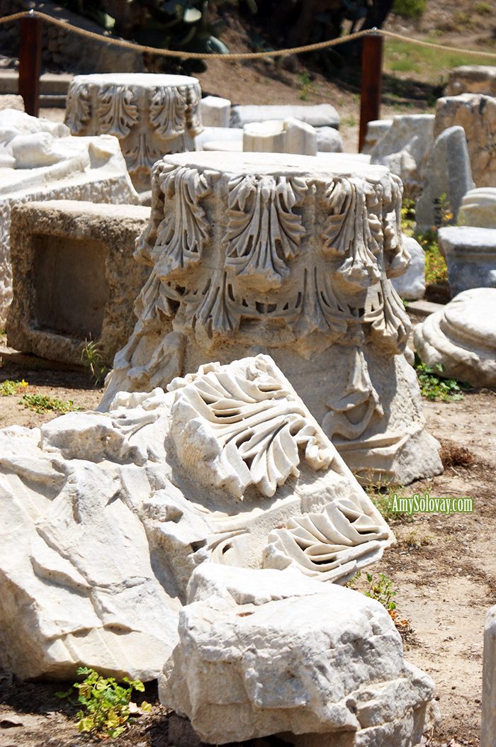 Long ago, Israel was part of the Roman empire. These artifacts in Ashkelon National Park are a reminder of that time period.