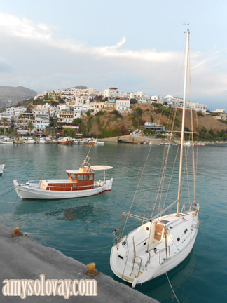 Beneteau Sailboat in the Marina at Agia Galini, Crete, Greece.