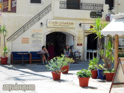 Café Platia, a Restaurant on the Greek Island of Crete