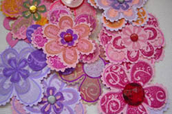 Crafts -- Hand Stamped Paper Flowers by Amy Solovay