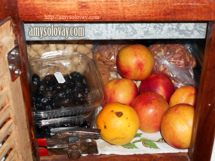 Our Pantry Filled With Food After Re-Supplying in Crete