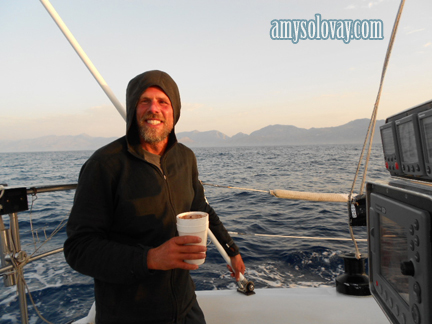 Mike Sailing to Crete