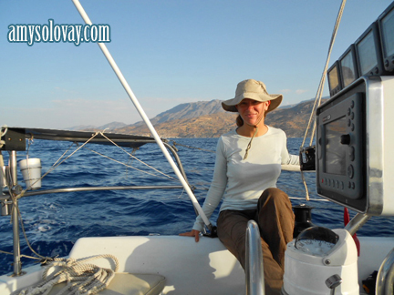 Amy Sailing to Crete