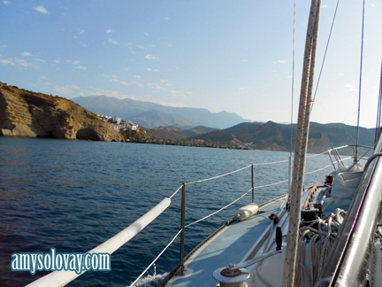 Sailing to Agia Galini, a Tourist-Friendly Area on the Greek Island of Crete
