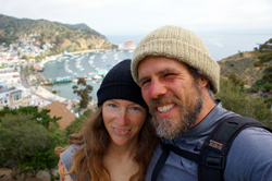 Travel -- Mike and Amy in Avalon, California